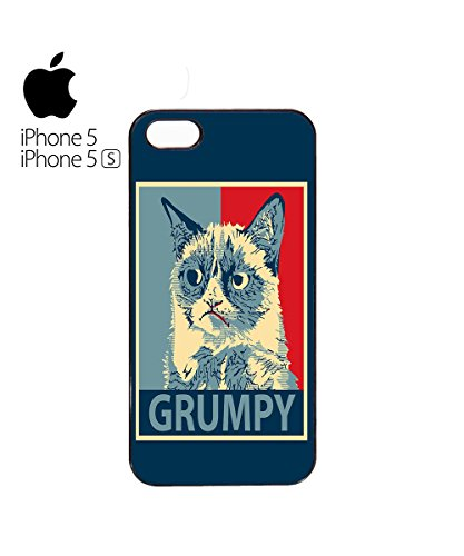 Grumpy Cat Funny Cats Animals Dog Dogs Painting Mobile Phone Case Cover iPhone 6 Plus + White Blanc
