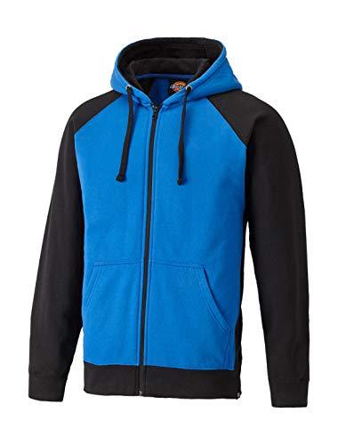 Dickies Mens Two Tone Polycotton Full Zip Adjustable Hooded Sweatshirt Zip Front Hooded Sweatshirt Shirt