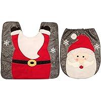 TaoNaisi 2 PC/Sistema de Vacaciones de Navidad de Santa Claus Asiento de Inodoro Cuarto