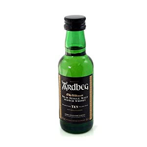 Ardbeg 10 yr Single Malt Scotch Whisky 5cl Miniature by Ardbeg