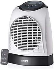 مدفأة غرفة Sanford® 2000 واط بشاشة رقمية LED - درجات حرارة دافئة وباردة قابلة للتعديل، وجهاز تحكم عن بعد، وظائ