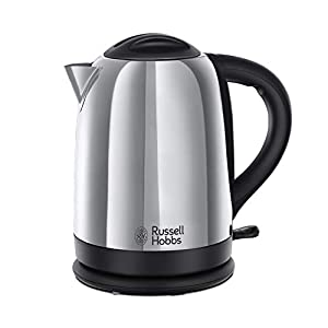 Russell Hobbs Dorchester Kettle, Polished Stainless Steel, 3000 W, 1.7 Litre
