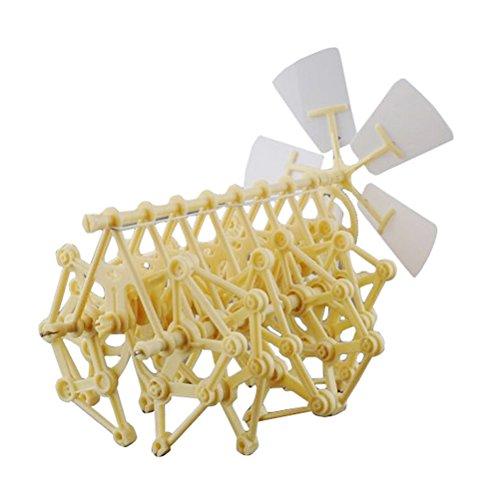 NUOLUX Lustige windgetriebene Animaris Ordis Parvus Strandbeest Modell Roboter DIY Bausatz Walker pädagogisches Spielzeug (Roboter-diy)