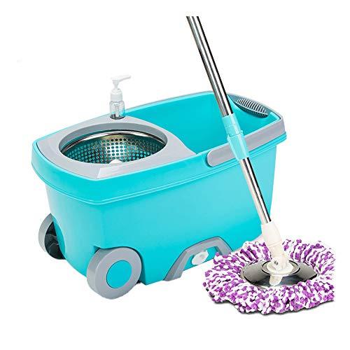 STcG-L Double Barrel Mop Bucket, 45 * 26 * 22CM - Restaurant Haushalt Wohnzimmer Multifunktions Grün Handwäsche Free Mop Bucket (größe : 45 * 26 * 22CM) -