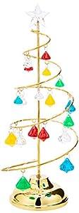 Shatchi 11841-SPIRAL-TREE-DIAMOND-13IN Árbol de Navidad con diamantes en espiral de 13 pulgadas con luces LED para decoración del hogar, regalos de Navidad novedosos, 33 cm, Multi