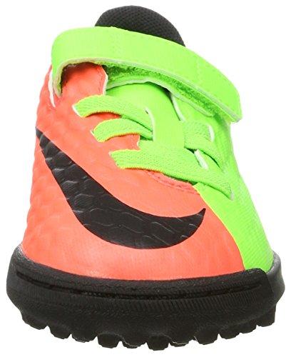 Nike Hypervenomx Phade 3 (V) Tf, Scarpe da Calcio Unisex – Bambini Verde (Elctrc Green/black-hyper Orange-volt)