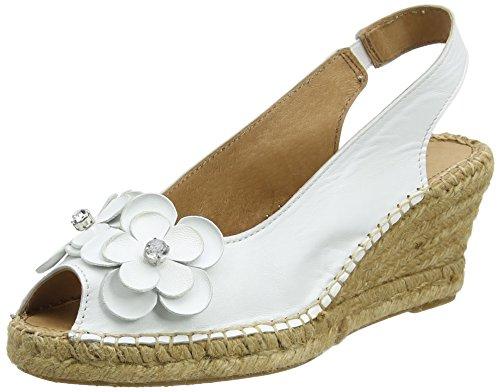 Carvela Poppy Np, Espadrilles femme Blanc (Blanc)