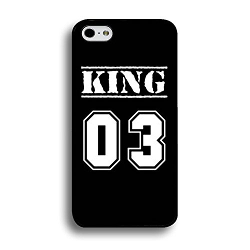 New Style Fashion Luxury King and Queen Couple Phone Case for IPhone 7 Phone Cases PC Back Mate Covers Case Color202d