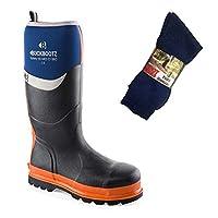 mad4tools Buckler BBZ6000 Waterproof Safety Wellington Boots 3-PK Boot Socks