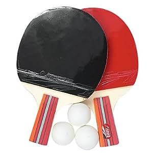LY table de Kansa raquette de tennis Penhold adhérence, ping-pong paddle (2-pack, 3 balles inclus)