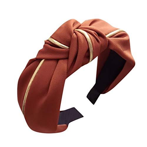 OSYARD Haarreife Headband Stirnband Vintage Kopf Warp mit Knoten koreanisches und verknotetes Haarband Haarreifen für Damen -