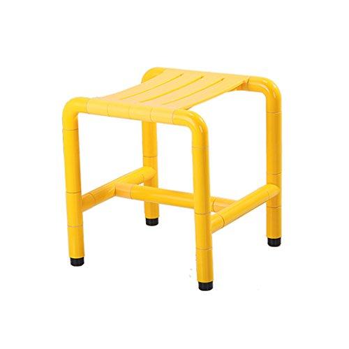 Edelstahl Anti-Rutsch-Sicherheits-Bad Hocker Anti-Korrosions-Anti-Rost ältere Badezimmer Dusche Stuhl ( Color : Yellow , Size : 425mm )