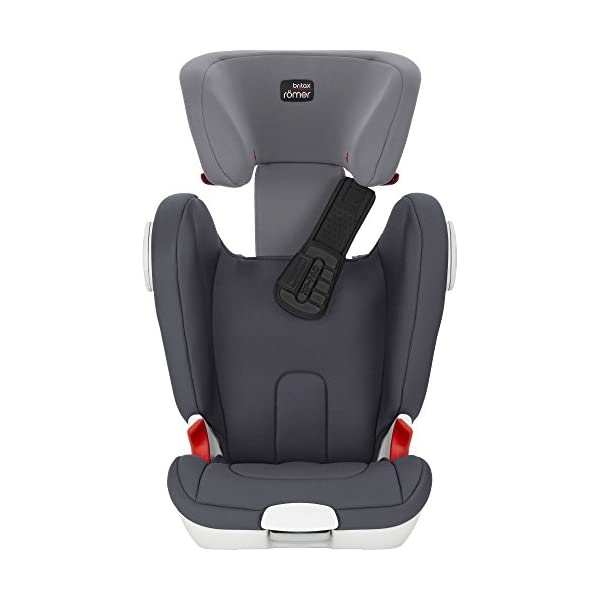 Britax Römer car seat Kidfix XP (SICT) Group 2/3. Britax Römer Front impact pad - XP, storm gray Shockproof side protection - MTS Codes High back for shock absorbing side protection and correct strap guide 10
