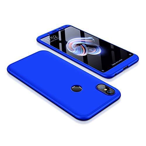 Funda Xiaomi Red mi Note 5 Pro, Carcasa de Híbrido la Cubierta Anti Arañazos y Anti-Choque, de Alta Dureza, Ultra - Delgado, Peso Ligero teléfono Case (Red mi Note 5 Pro, Azul)