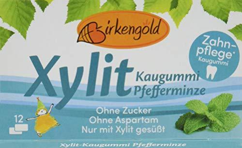 Birkengold Kaugummi Pfefferminze, 8er Pack (8 x 17 g)