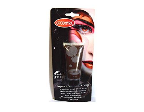 Tube crème maquillage à l'eau Aqua MARRON déguisement - 38 ml