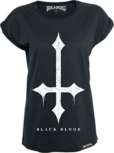 Black Blood Cross Maglia donna nero XL