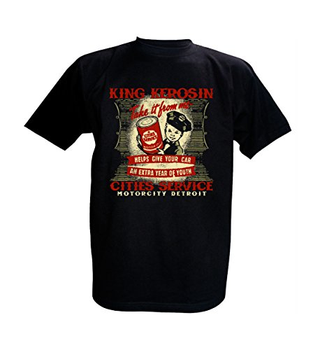 King Kerosin T-Shirt Cities Service Motorcity Detroit Schwarz