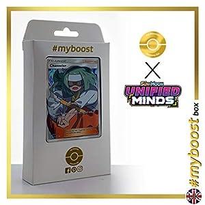 Channeler (Exorcista) 232/236 Entrenadore Full Art - #myboost X Sun & Moon 11 Unified Minds - Box de 10 cartas Pokémon Inglesas
