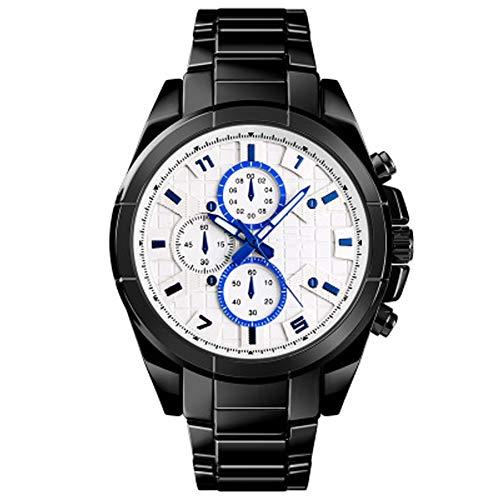 PXYUAN Smart Watch Bluetooth Smartwatch Touchscreen-Armbanduhr Sport Fitness Tracker SOS-Hilfe erinnern Quarzuhr für iPhone iOS Samsung LG Android Männer Frauen-White Matte White Modell