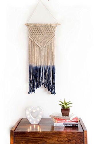 Folkulture Makramee-Wandbehang, groß, gewebt, groß, handgefertigt, Bohemian-Stil, Dekoration für Wohnzimmer, Schlafzimmer, Kinderzimmer Garland Blush