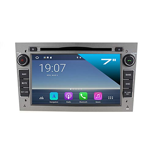 TAFFIO® Opel Astra Corsa Zafira Android 8 Autoradio Touchscreen GPS Navi DVD WiFi USB SD ANTHRAZIT GRAU