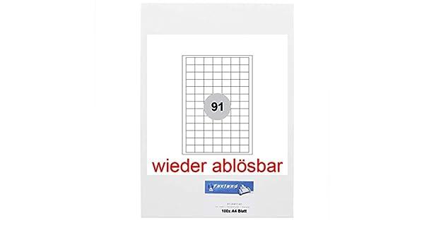 Faxland 48x25 100 A4 Bl/ätter selbst-klebend abl/ösbar Non Permanent Wiederabl/ösbare Etiketten 48.5 x 25.4 mm f/ür  FBA Versand 4400 St/ück