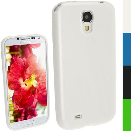 igadgitz Blanc Étui Coque TPU Brilliant pour Samsung Galaxy S4 IV I9500 I9505 Android Smartphone + Protecteur d'écran