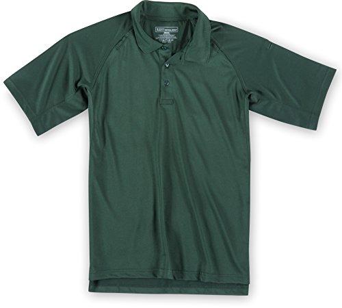 5.11Performance Herren Kurze Ärmel Hoch Polo Shirt LE Green