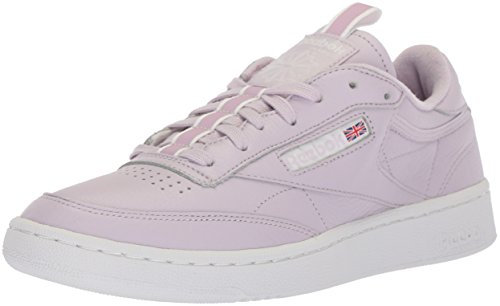 Reebok Men\'s Club C 85 Rt Cross Trainer, Quartz/White/Purple Fog, 4 M US