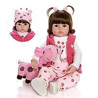 Reborn Baby Doll Toy 18CB09-W05 Cloth Body Stuffed Realistic Baby Doll With Giraffe Toddler Birthday Christmas Gifts