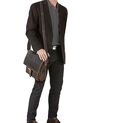 STILORD 'Nevio' Besace cuir homme vintage sac en bandoulière vintage pour tablette iPad 10.1 pouces sac messager à l'épaule en cuir véritable de boeuf