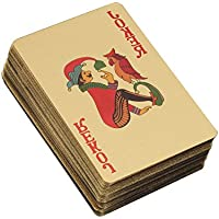 YeahiBaby Cartas de Póker Juguete para la Fiesta Oro