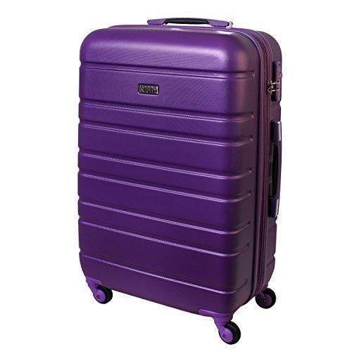 XL Hartschalen Koffer TSA Schloss Trolley 80 Liter Lila 815 B