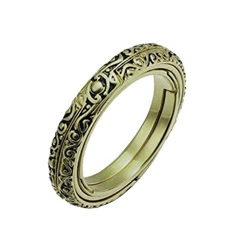 Astronomische Kugel Ring, Tuscom Fashion öffnende Ring astronomische Sonnenuhr Globus Ring Glaskuppe Diadia (Brown)