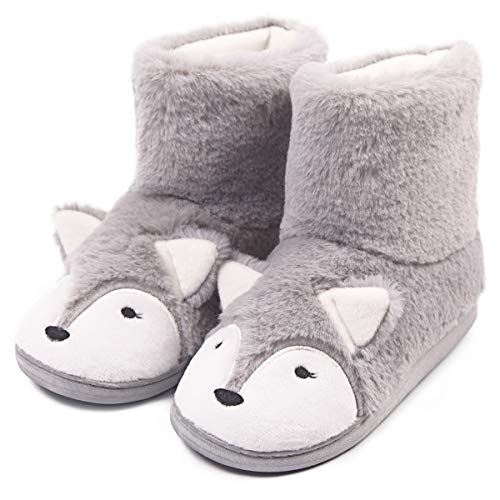 Warm Stuffed Animal Bear Boot Slipper Women Funny Fleece House Slippers