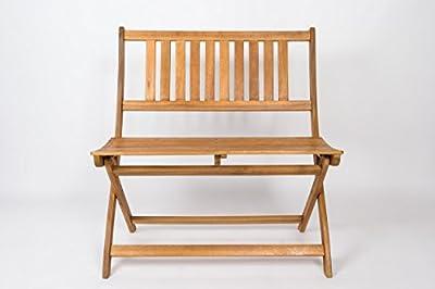 SAM Gartenbank Blossom, 80 cm, Sitzbank aus Akazienholz, klappbar, FSC zertifiziert von SAM® - Gartenmöbel von Du und Dein Garten