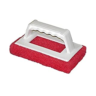 Americo Manufacturing Americo 542020 Scrubba All Purpose Cleaning Pad/Handle 9-R (Medium Duty Red), 12 per Pack (Made in USA)