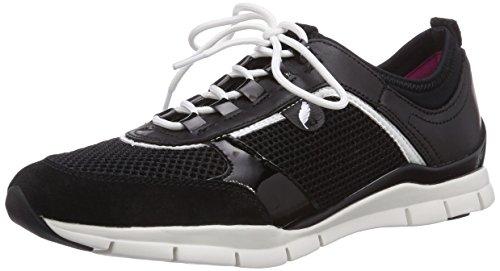 Geox D Sukie B Damen Sneakers Schwarz (blackc9999)