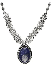 The Indian Handicraft Store Cosmic Blue Stone Ghungroo Necklace