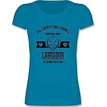 Tiermotive Kind - Das Leben ist viel schöner wenn Man einen Labrador an Seiner Seite hat - Mädchen T-Shirt