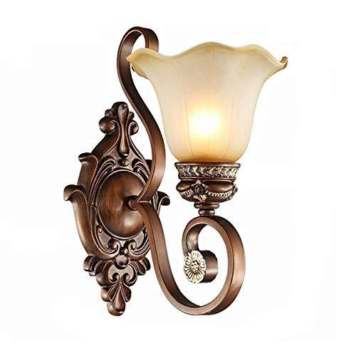 Wzqwzj Retro Nostalgic Wall Lamp Klassische Wandbeleuchtung Industrielampe Glaslampenschirm -