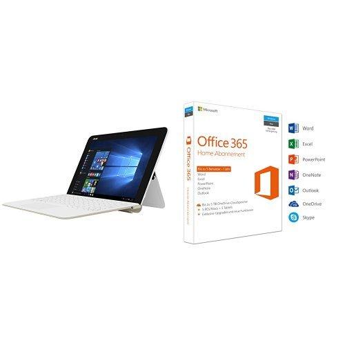 Preisvergleich Produktbild Asus T102HA-GR015T 25,6 cm (10,1 Zoll) Convertible Tablet-PC (Intel Atom x5-Z8350, 64 GB eMMC Festplatte, 4 GB Arbeitsspeicher, Intel HD Graphics, Win 10 Home) weiß/goldinkl. Microsoft Office 365 Home 5PCs/MACs - 1 Jahresabonnement