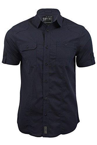 chemise-pour-homme-sigmar-en-tissu-faconne-et-manches-courtes-de-dissident-dark-navy-l