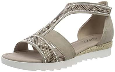 Gabor Shoes Comfort Sport, Sandales Bride Cheville Femme, Gris (Light Grey Jute), 42.5 EU