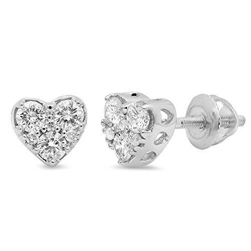 040-karat-ctw-10-k-weiss-gold-runde-schnitt-diamant-damen-herz-form-ohrstecker