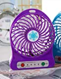 ZHUANGJI Snowflake Wecker Kleiner Ventilator USB Outdoor Schlafsaal,Violett