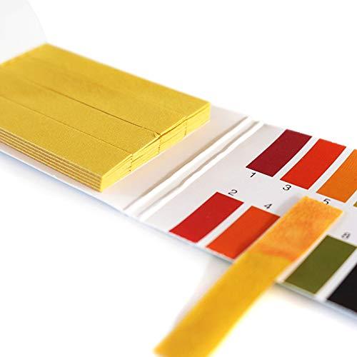ZhangHongJ,1-14 PH Strip Universal Anzeigetestkit 80er Pack(Color:GELB)