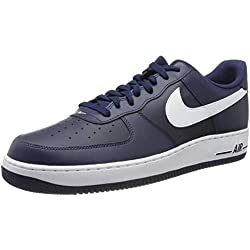 Nike Air Force 1, Zapatillas de Baloncesto para Hombre, Azul/Blanco (Midnight White-Mid Navy), 42 EU