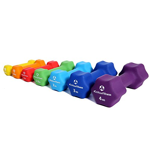 Neopren-Hanteln »Lire« Kurzhanteln in verschiedenen Gewichts- und Farbvarianten ( 0,5kg, 0,75kg, 1kg, 1,5kg, 2kg, 3kg & 4kg )
